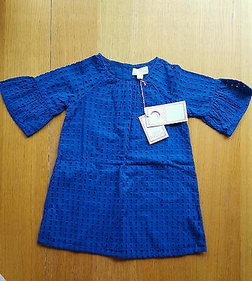 Gorgeous Toddler Baby Girl  Blue Pumpkin Patch Dress. Size 2. NWT.