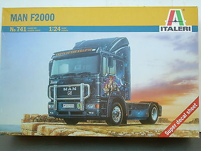 """Man F2000 1/24 Scale -""""nos"""" New Old Shop Stock-Sealed Unopened Italeri"""