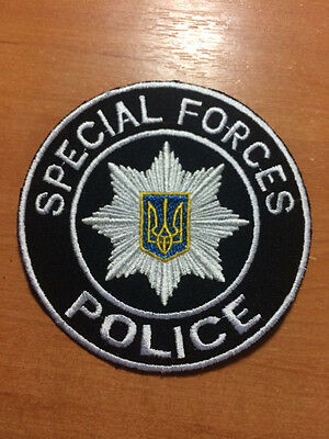 PATCH POLICE UKRAINE - SWAT SPECIAL FORCES - Current 2016 style! RARE! ORIGINAL!