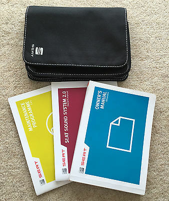 Seat Alhambra Owners Manual Handbook Pack With Wallet +Service 2012-2014 Ref3832
