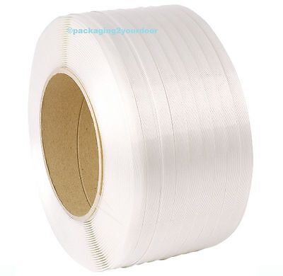 Reel Of 12mm x 3000M x 0.55mm Machine Pallet Strapping Coil, 145kg Brake