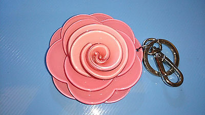 Pink Rose double key Ring