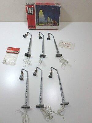 French Jouef HO 6 Lamp Posts (Boxed)