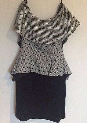 Fabulous Black And White Cocktail Dress Size 16 (worn once)