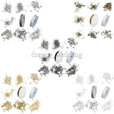 Jewellery Making Beading Findings Kit Wire/ PINS/ Chain/ Clasps/ Crimps/ Hooks