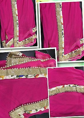 Bollywood Saree Designer Party Wear Indian Wedding Women Latest Pakistani Sari