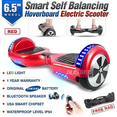 Two Wheel Bluetooth Red Electric Glide Board Scooter UL Certified with Free Bag