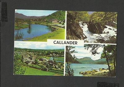 Vintage Colour Multi View Postcard River Teith-Loch Lubnaig Callander posted