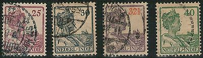 Lot 3801 - Netherlands Indies - 1912 Queen Wilhelmina selection of 4 used stamps