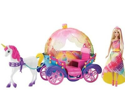 Barbie Rainbow Princess with Horse and Carriage - New Sealed