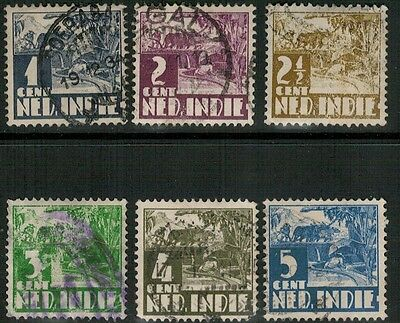 Lot 3802 - Netherlands Indies - 1933 Rice Cultivation selection of 6 used stamps