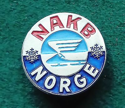 1955 Oslo World Luge championship badge