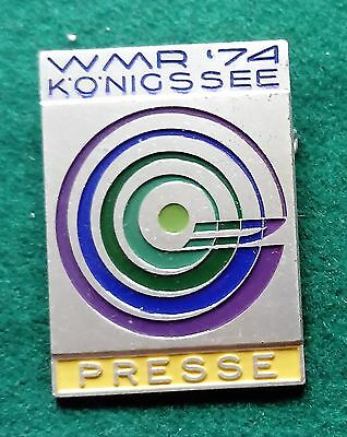 FIL 1974 Konigssee World Luge championship Presse pin badge