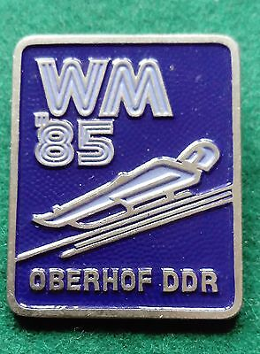 FIL 1985 Oberhof World Luge championship badge