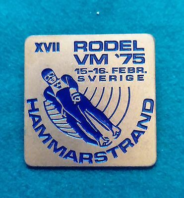 1975 Hammarstrand World Luge championship badge