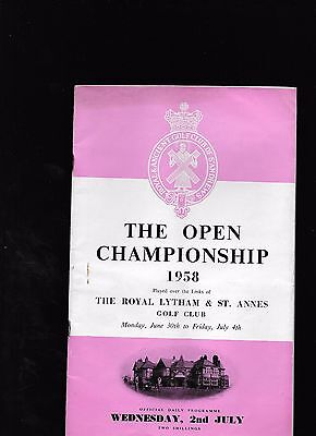 1958 Open Golf Championship At Royal Lytham & St Annes Programme Plus Extra