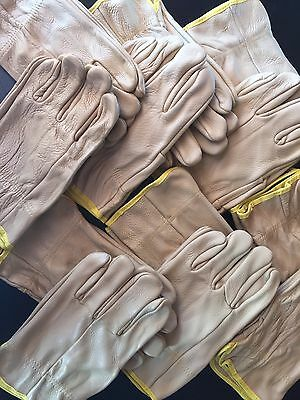 12 Pair Leather Riggers Work Safety Gloves