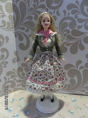 """Barbie """"Austrian"""" Austria Doll - Dolls of the World Collection - 1998 - #21553"""
