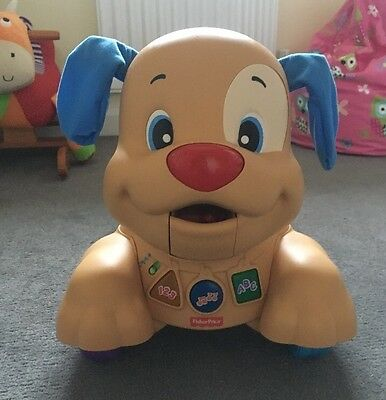 Laugh & Learn Stride-to-Ride Fisher Price Walker Ride on Push along Puppy 3 In 1