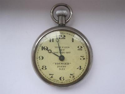 """INTERESTING Wm YOUNGER """"TIME FLIES"""" POCKET WATCH JUBILEE YEAR dated 1935"""