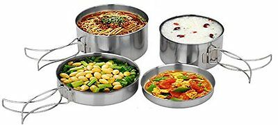 Outdoor Camping Pot Set and Camping Pans made of Stainless Steel, Camping
