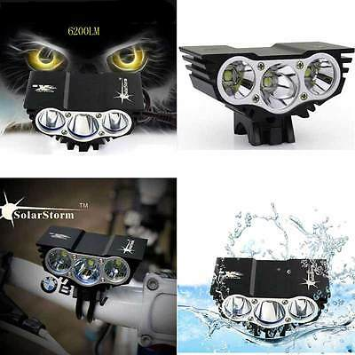 3CREE XML T6 5000LM  LED Solarstorm Bike Light Cycle Bicycle Lamp Waterproof New
