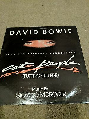 """David Bowie - Cat People (Putting out fire) - Vinyl 12"""" Single"""