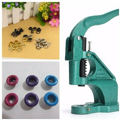 Eyelet Press Punch Machine Grommet Vinyl Banner Flag Piercing Hole Hand Tool UK