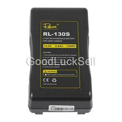 Rolux RL-130S 130Wh Li-ion Sony V Lock V-Mount Battery Rechargeable DSLR Cameras