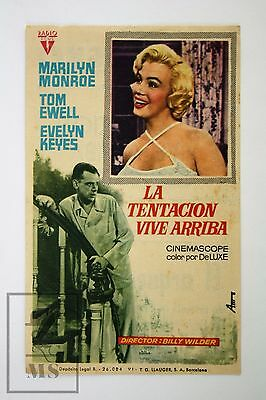 1955 Marilyn Monroe - The Seven Year Itch - Cinema/ Movie Advertising Leaflet