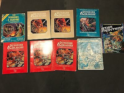 Dungeon & Dragons RPG Expert & Basic Rulebooks (9 item lot) Guide to Immortals
