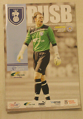 Leicester City Vs Coventry City August 6 2011 Programme