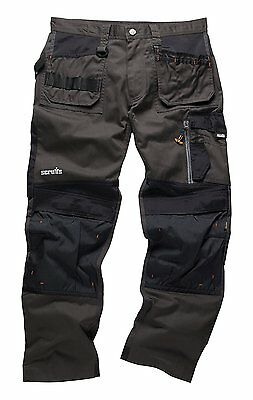 Scruffs Men's 3D Trade Trouser, Graphite, Size 32/Small Workwear Trousers