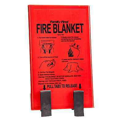 Family First FIRE BLANKET 1mx1m With Hard Case, Quick Release Tabs *Aust Brand