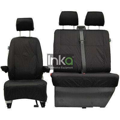 VW Transporter T5 Pre GP Front Inka Fully Tailored Waterproof Seat Cover Black