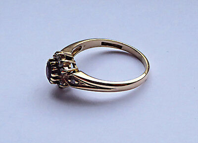 9Ct Gold Cluster Ring Size N