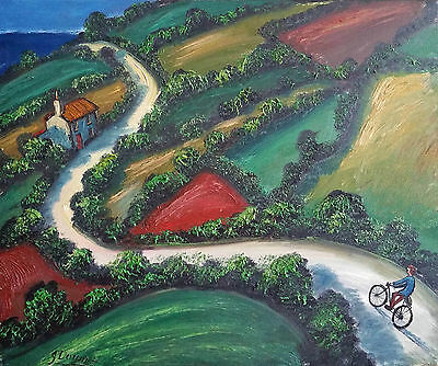 The Coast Road: Original Signed Oil Painting Famous Artist James Downie Cornwall