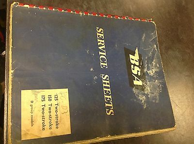 Bsa service sheets d group 125 150 175 two stroke