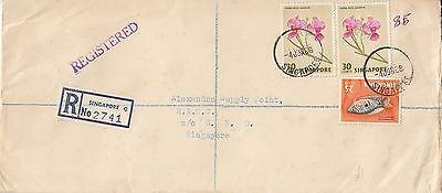 C 30 Singapore Reg. cover entering British military system 1968  Dempsey Road ..