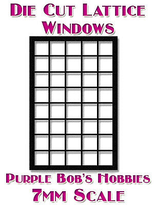 7mm Scale Die Cut Windows For Model Buildings 5X8 Panes Including Glazing NEW!