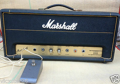 Marshall Reverb Unit1970's Super Rare Excellent Condition  Made In Uk With Pedal