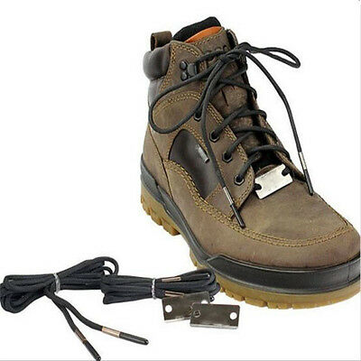 Hiking Flint Fire Flame Sport Reflective Round Rope Shoelaces Survival Equipment