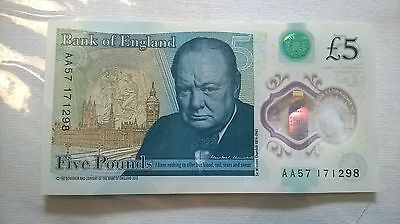 £5 AA57 171298 £5 note