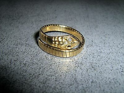 Anello Unisex Oro 750 Gold Ring 18Kt Snake Cobra Rare Jewel Made In Italy