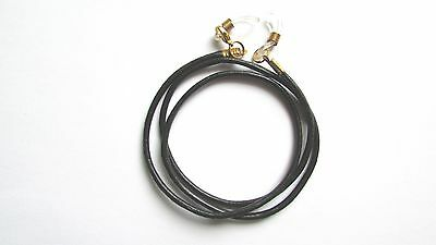 "61cm (24"") Black  leather Eye / sun Glasses Necklace / Lanyard"