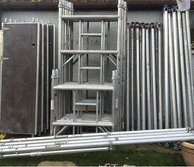 Boss Youngman Aluminium 5.2M - 8.2M Working Height Narrow Or Wide Scaffold Tower