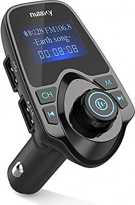[Upgraded Version] Nulaxy Wireless In-Car Bluetooth FM Transmitter Radio Adapter