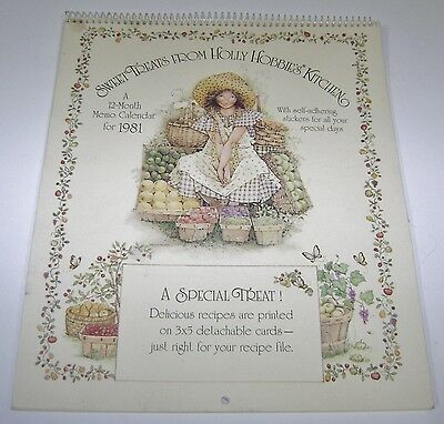 Vintage Sweet Treats From Holly Hobbie Kitchen Calendar Recipes Stickers '81 New