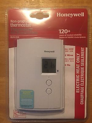 Honeywell RLV3120A Digital Non-Programmable Thermostat for Electric Baseboard