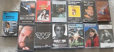 collection of country music cassettes